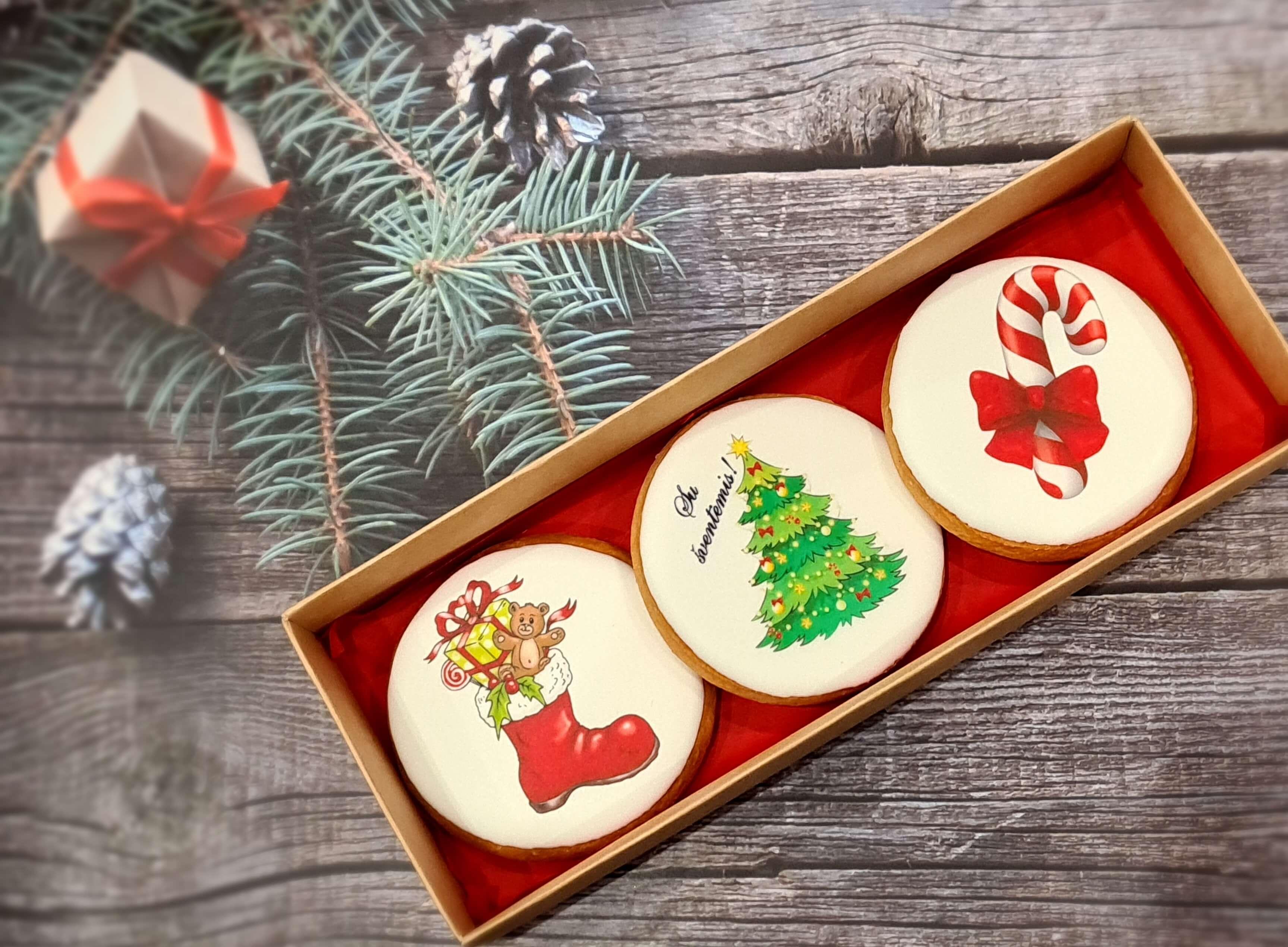 """Dekoruoti imbieriniai sausainiai """"Kalėdos"""" 17"""