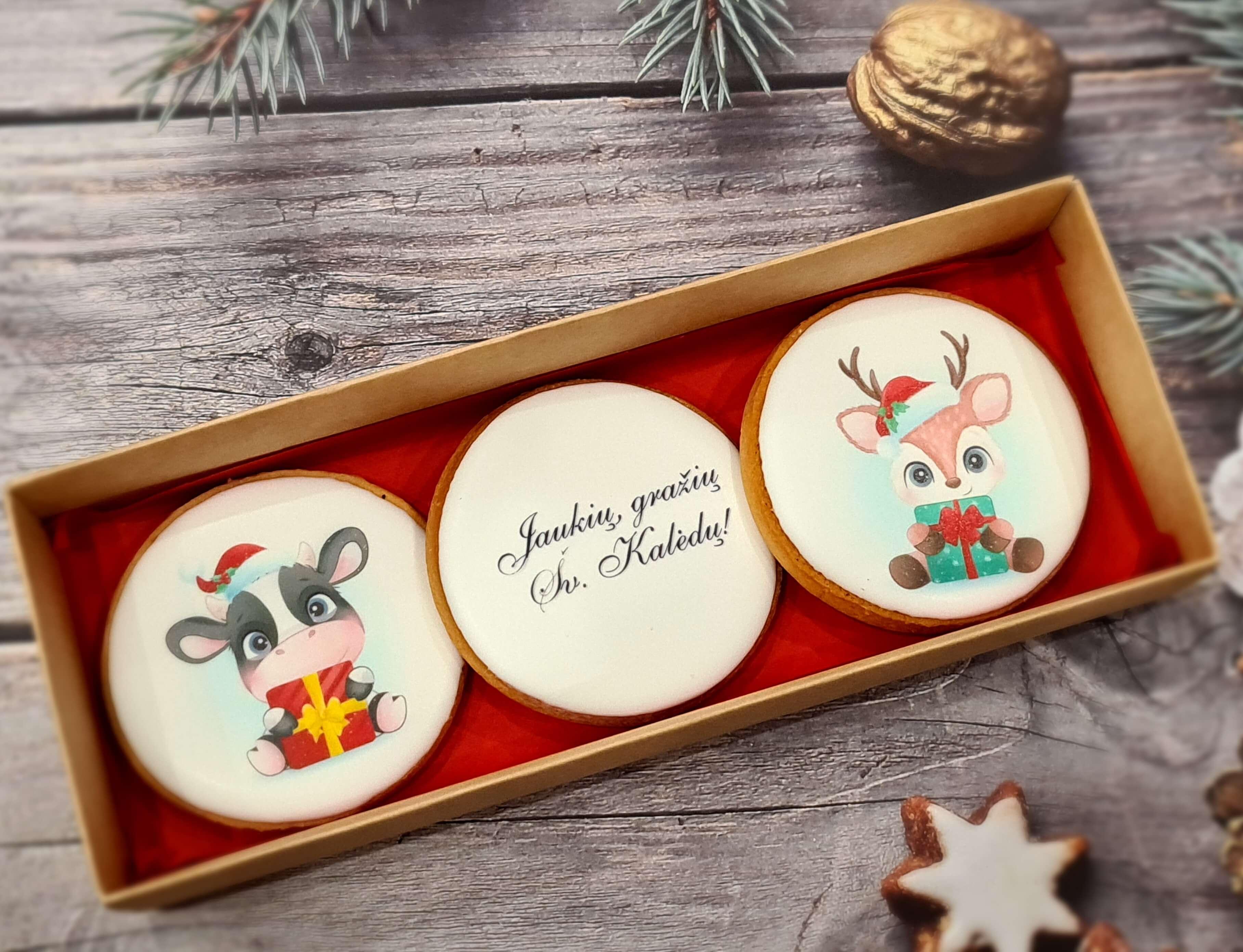 """Dekoruoti imbieriniai sausainiai """"Kalėdos"""" 19"""