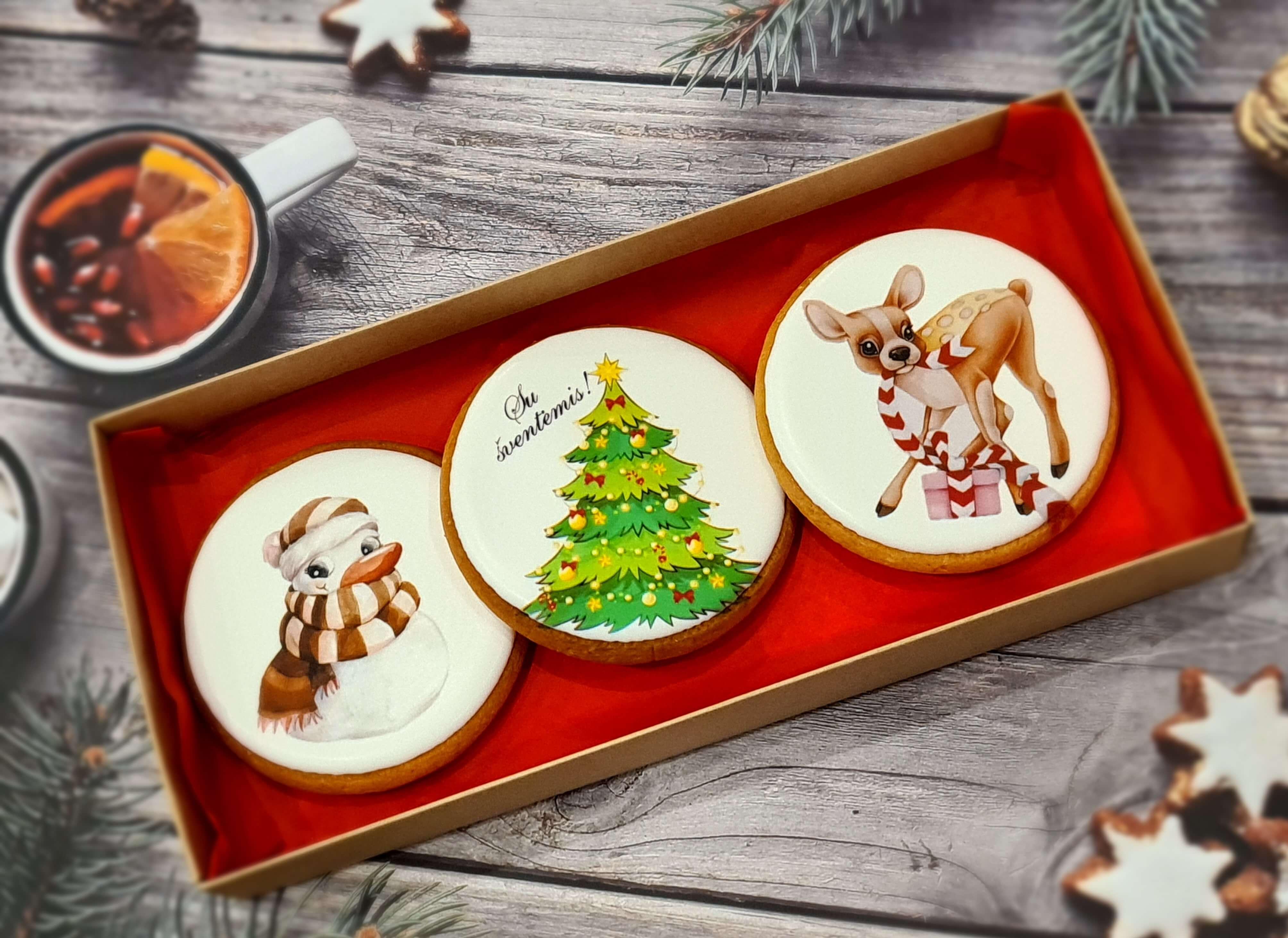 """Dekoruoti imbieriniai sausainiai """"Kalėdos"""" 13"""