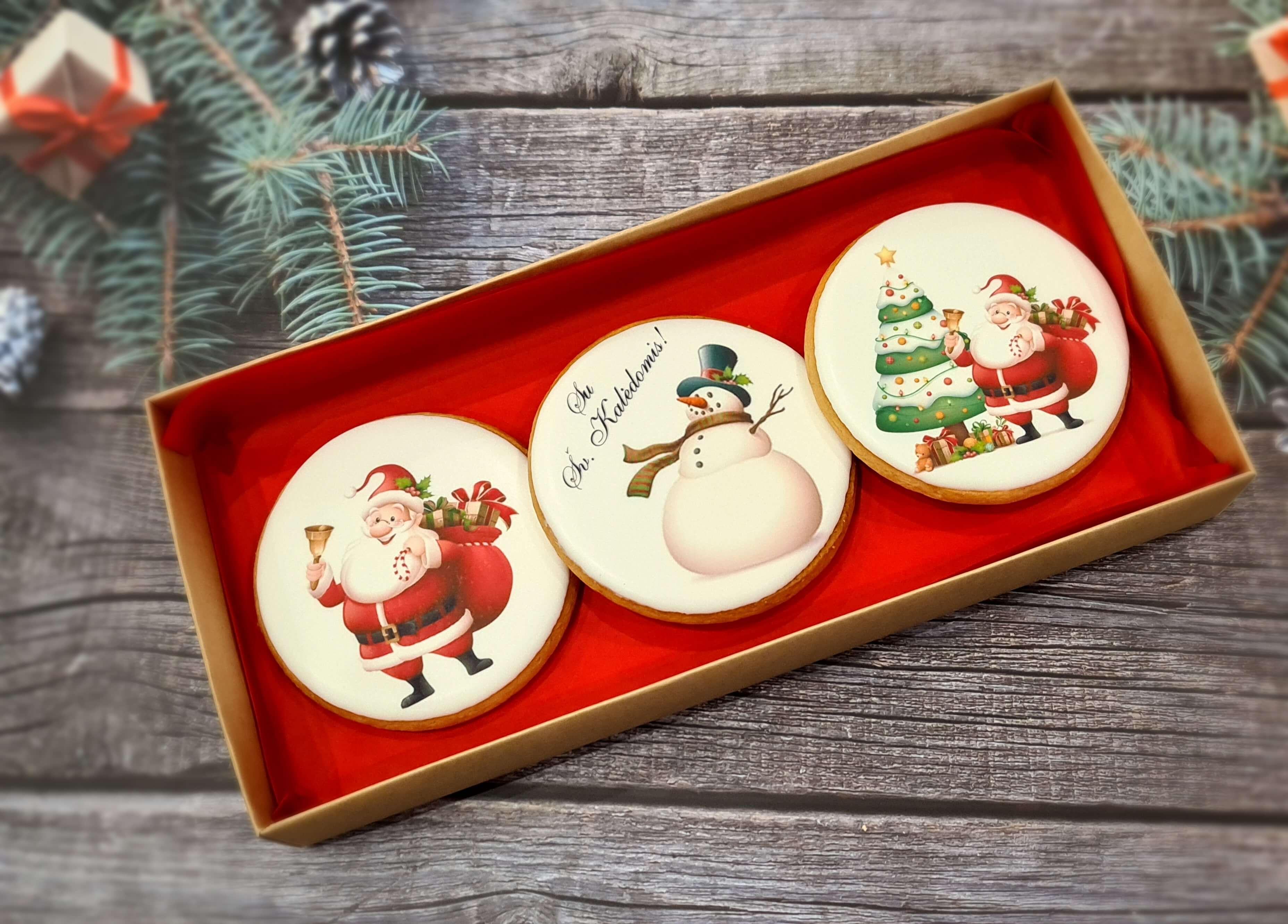 """Dekoruoti imbieriniai sausainiai """"Kalėdos"""" 9"""