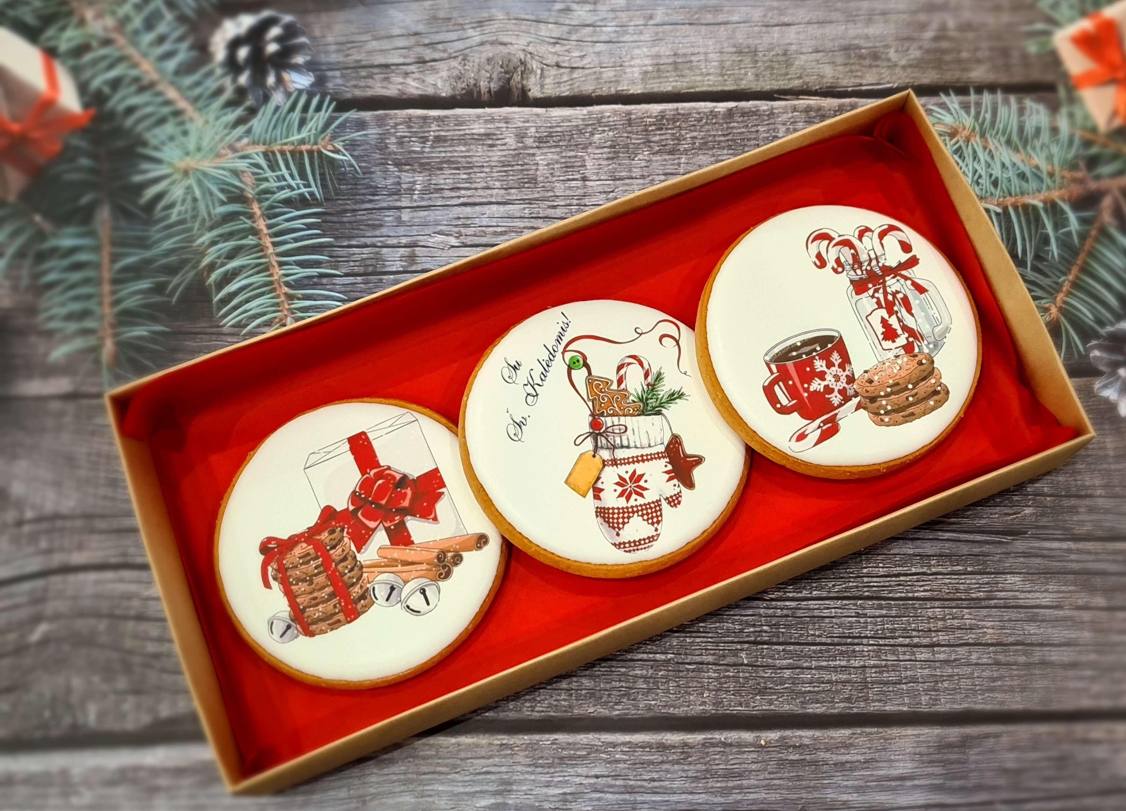 """Dekoruoti imbieriniai sausainiai """"Kalėdos"""" 7"""