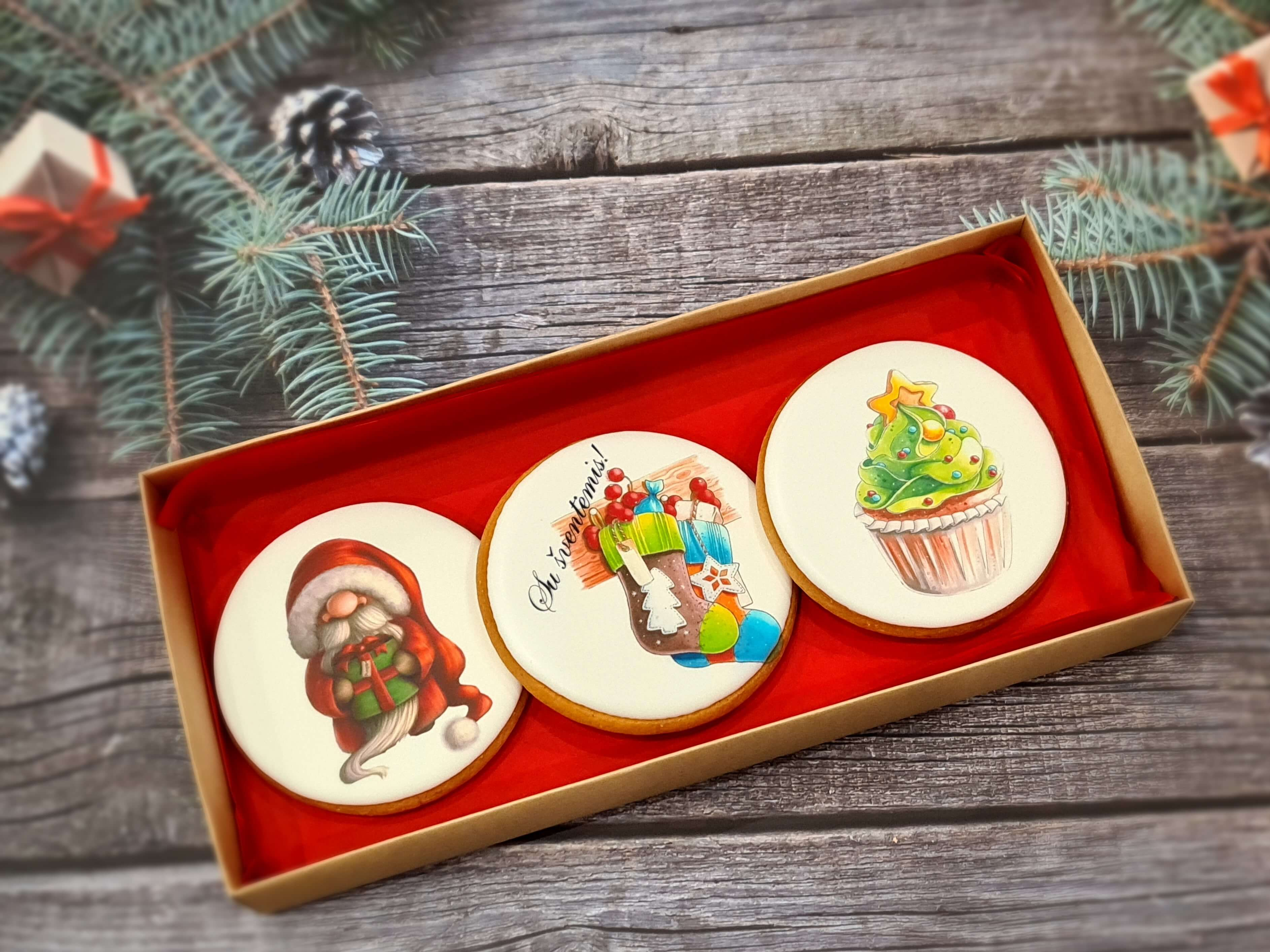 """Dekoruoti imbieriniai sausainiai """"Kalėdos"""" 8"""