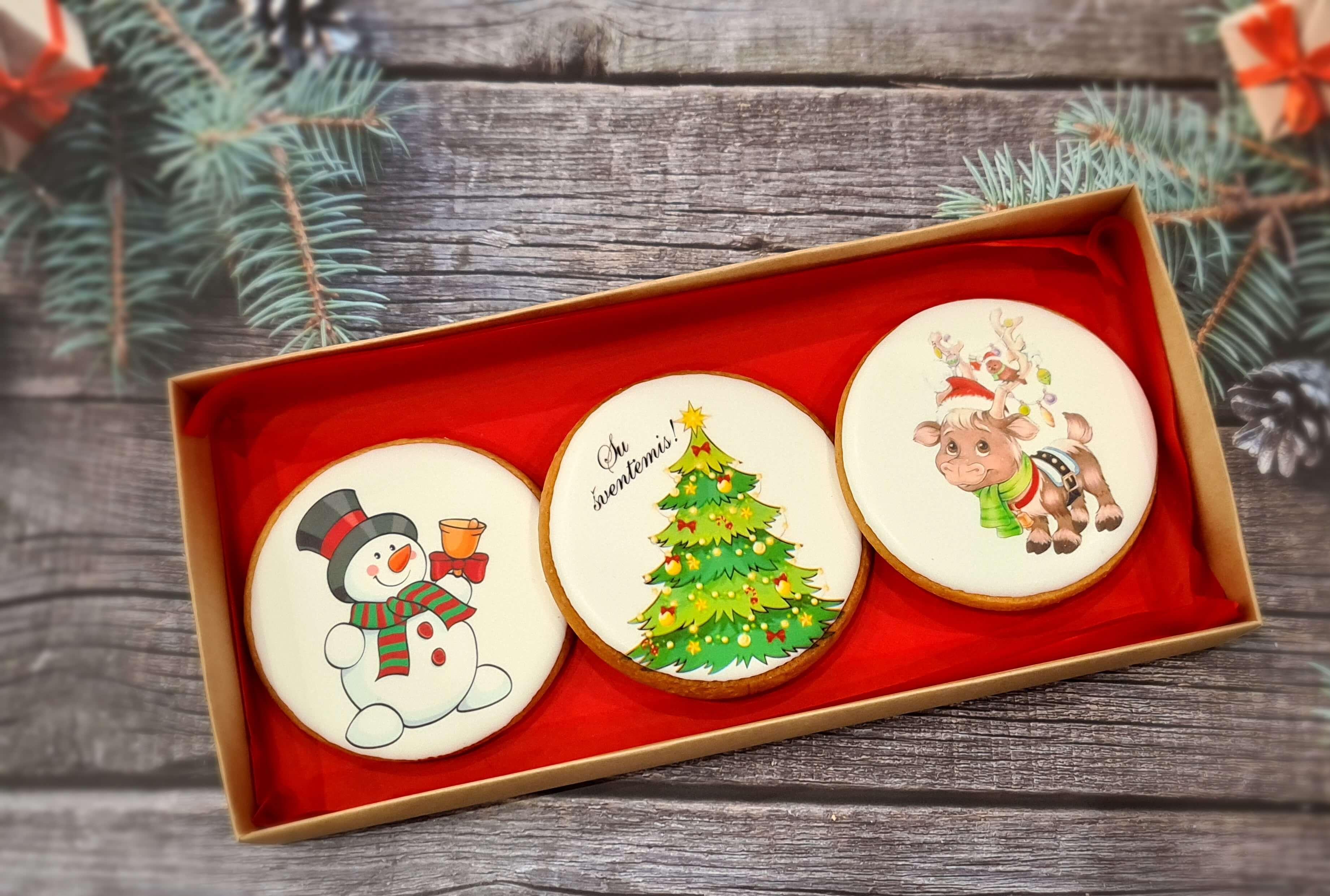 """Dekoruoti imbieriniai sausainiai """"Kalėdos"""" 14"""