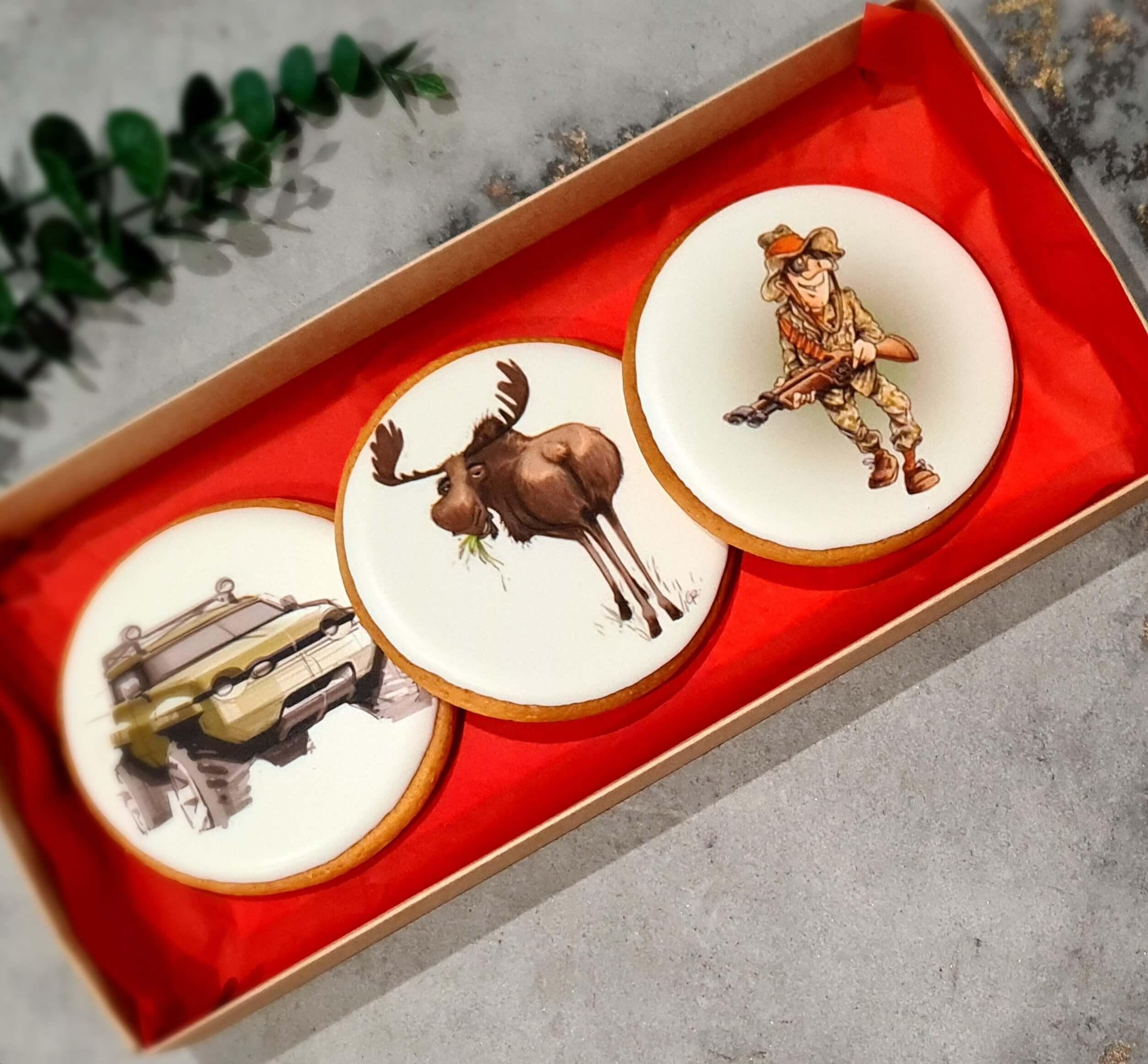 """Dekoruoti imbieriniai sausainiai """"Medžioklė"""""""