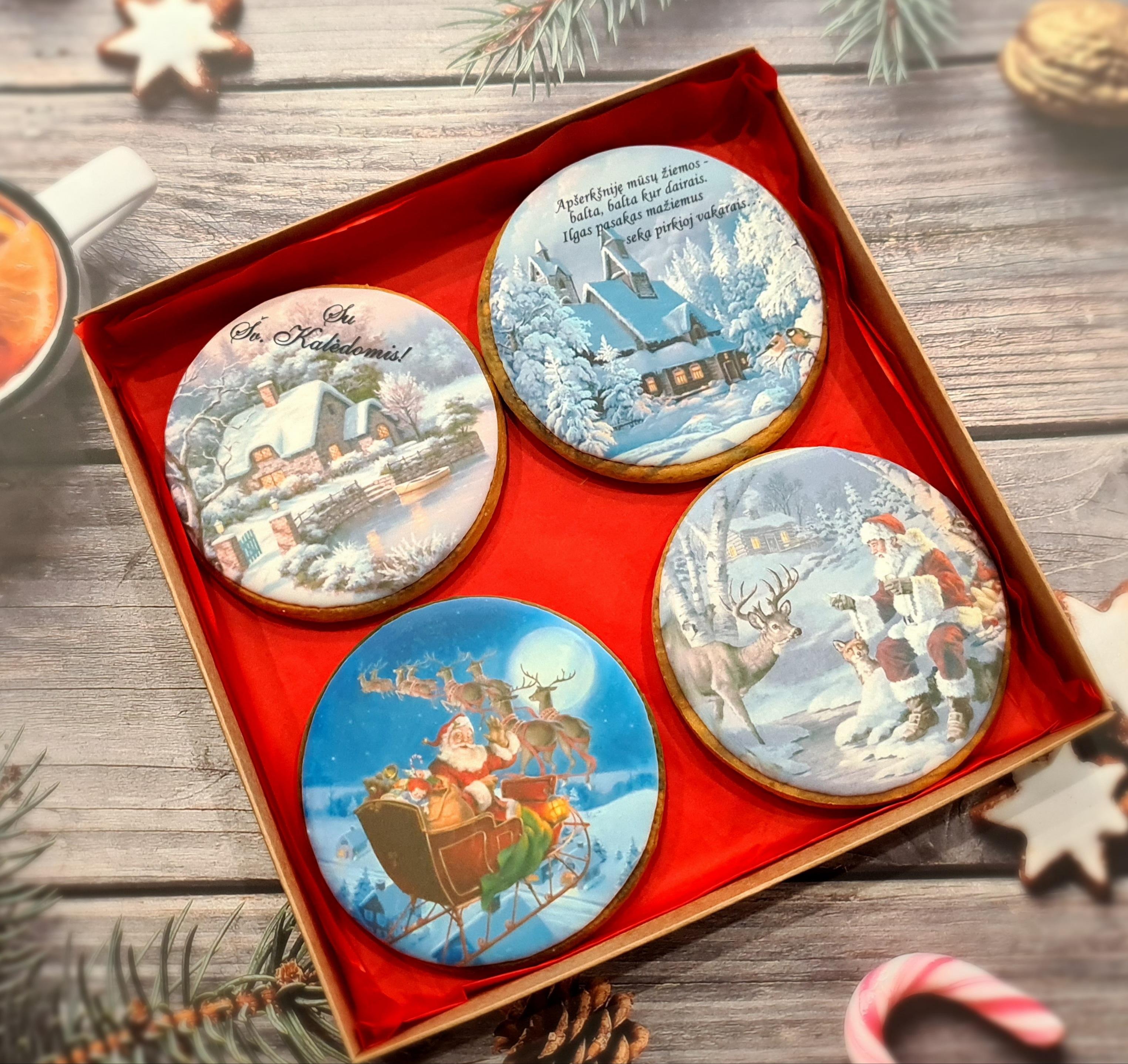 """Dekoruoti imbieriniai sausainiai """"Kalėdos"""" 1"""