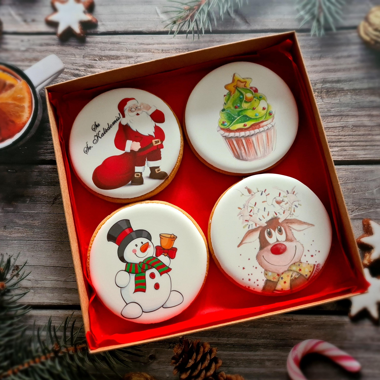 """Dekoruoti imbieriniai sausainiai """"Kalėdos"""" 4"""