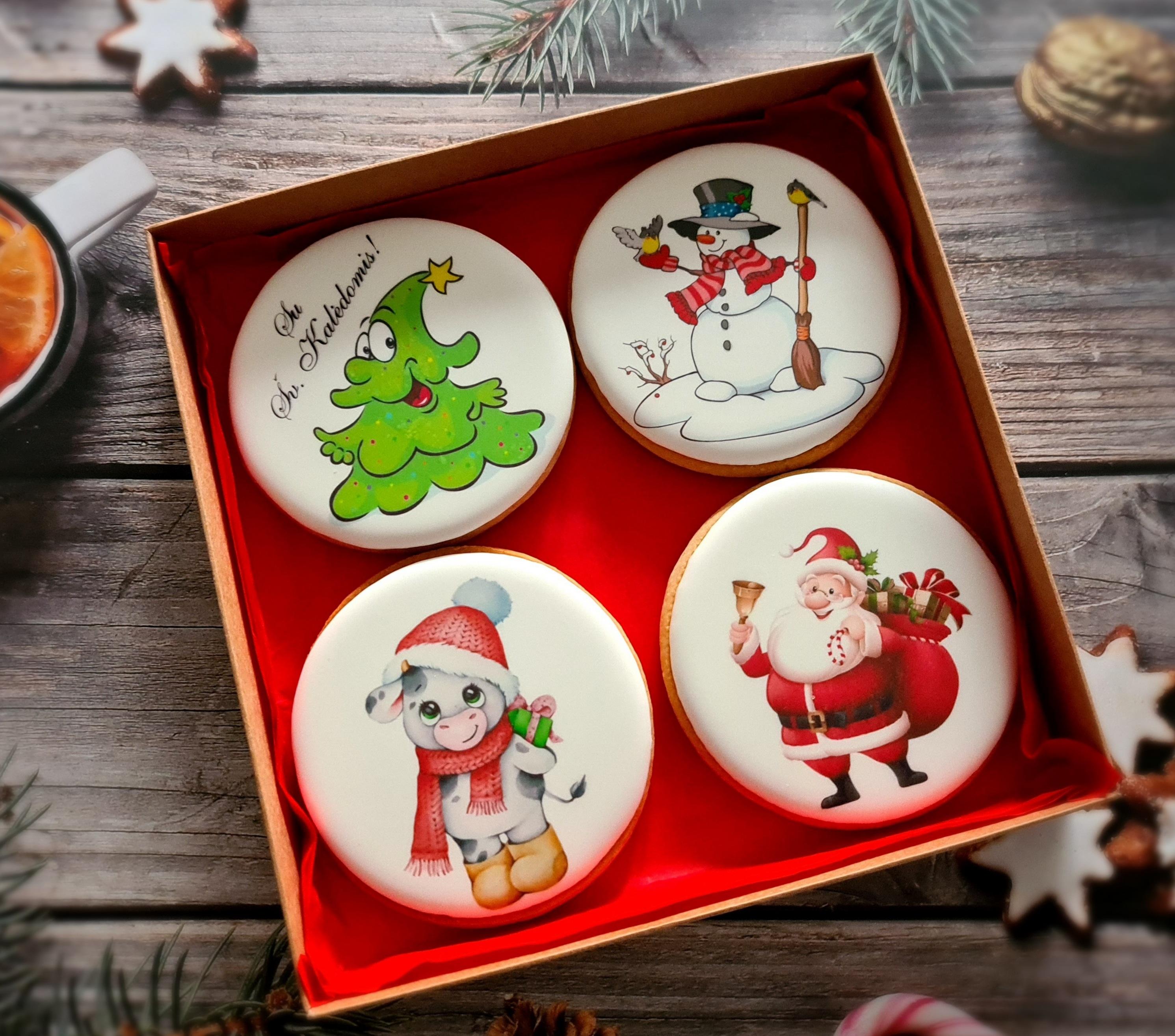 """Dekoruoti imbieriniai sausainiai """"Kalėdos"""" 3"""