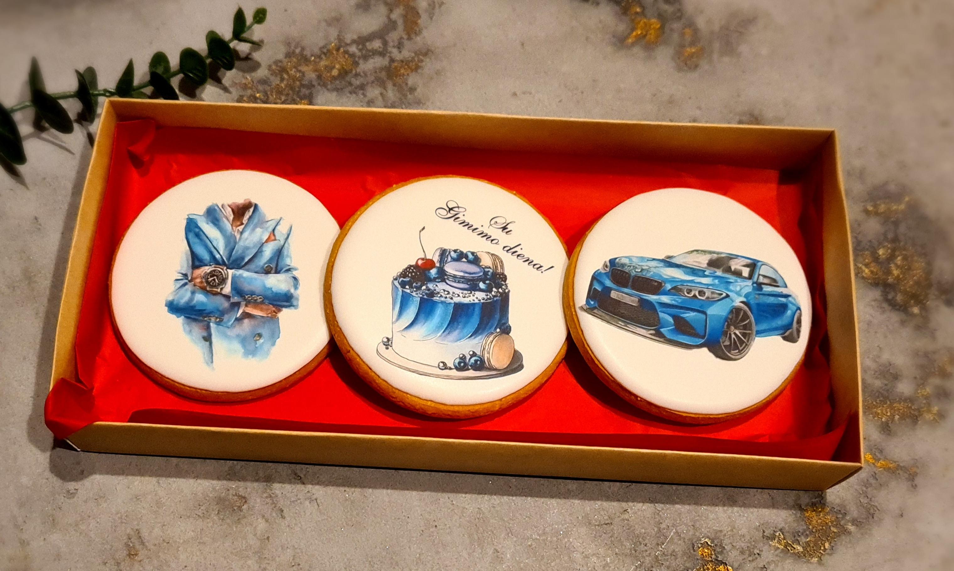 """Dekoruoti imbieriniai sausainiai """"Mėlyna"""""""