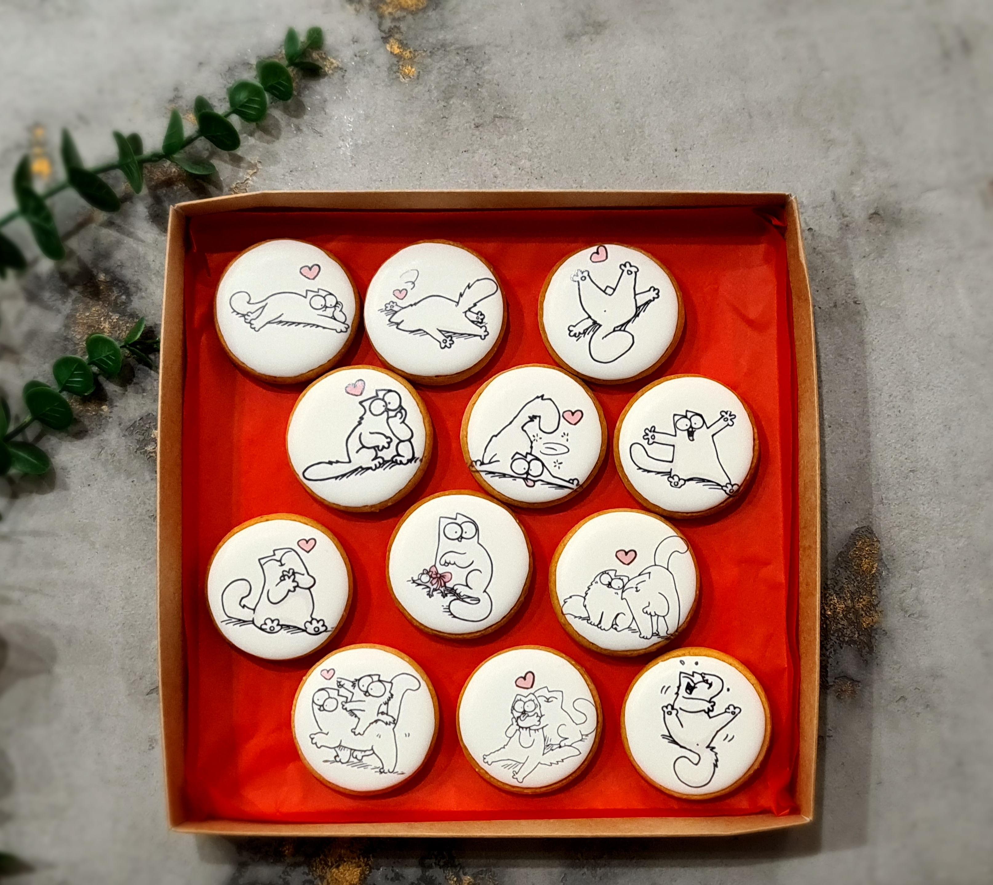 """Dekoruoti suvenyriniai sausainiai """"Valentino diena"""""""