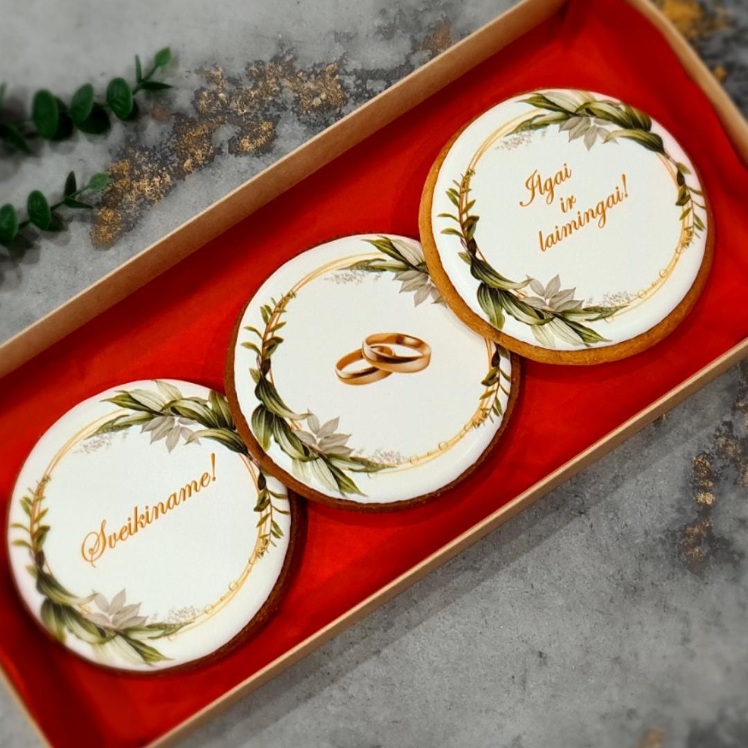 """Dekoruoti imbieriniai sausainiai """"Vestuvės""""  - 1"""