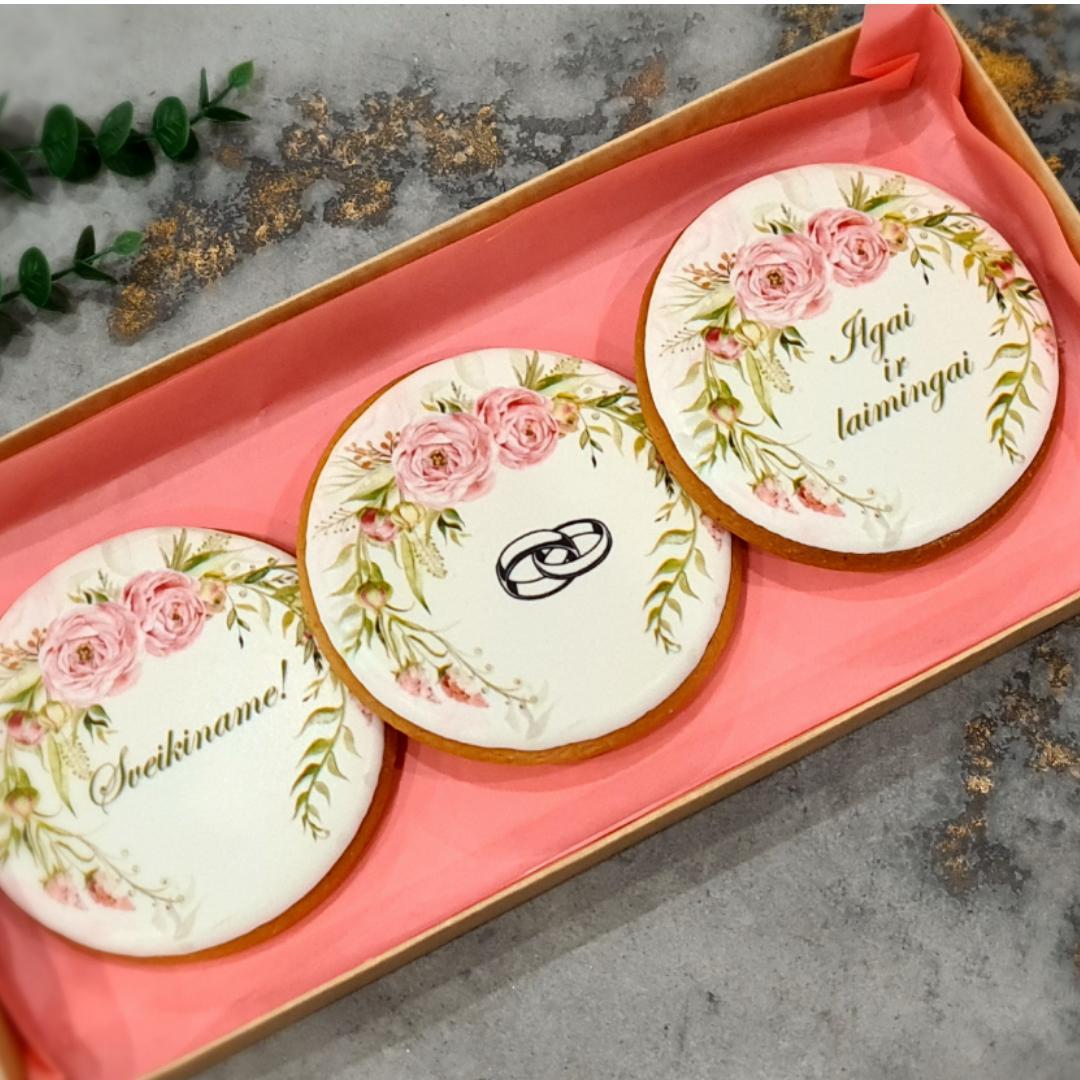 """Dekoruoti imbieriniai sausainiai """"Vestuvės - 2"""""""