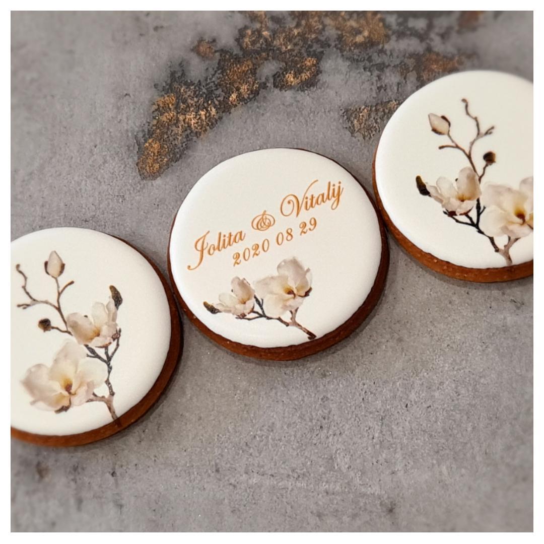 """Dekoruoti imbieriniai sausainiai """"Vestuvės - 3"""""""