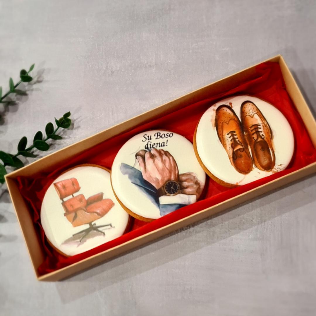 """Dekoruoti imbieriniai sausainiai """"Boso diena"""" 5"""