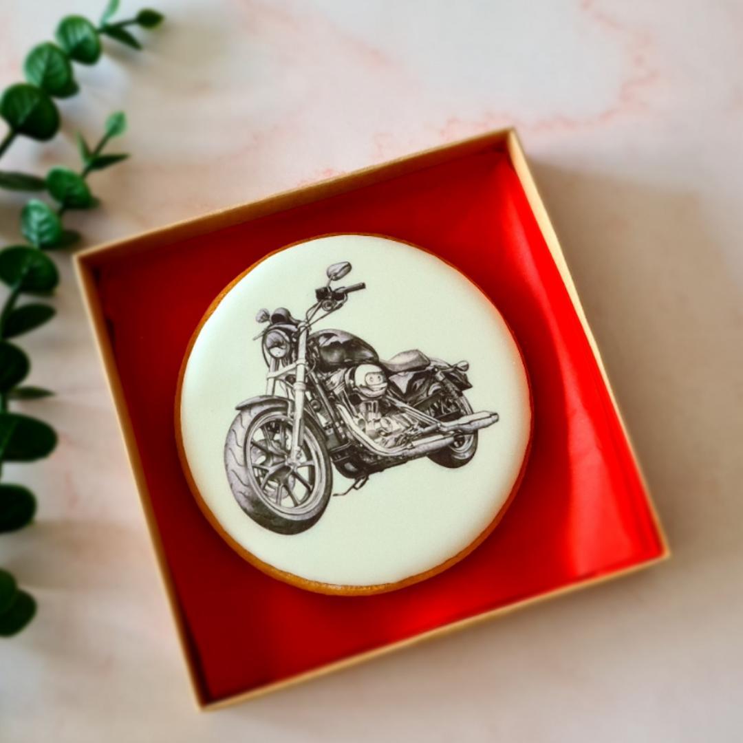 """Dekoruotas imbierinis sausainis """"Motociklas"""""""