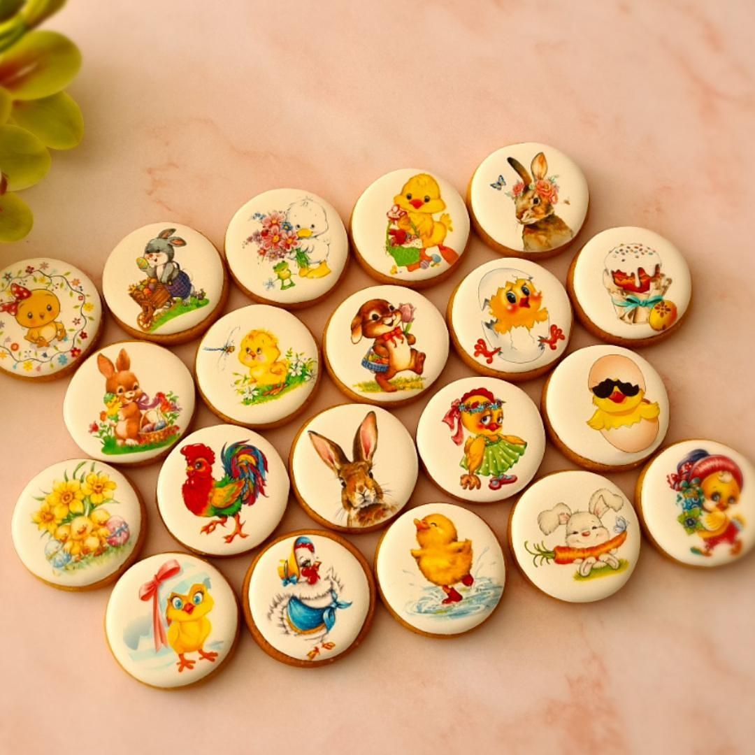 """Dekoruoti imbieriniai sausainiai """"Velykos"""" 5"""