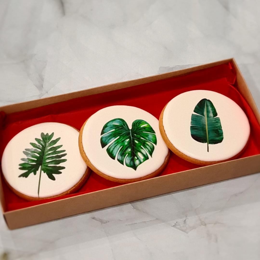 """Dekoruoti imbieriniai sausainiai """"Lapai"""""""