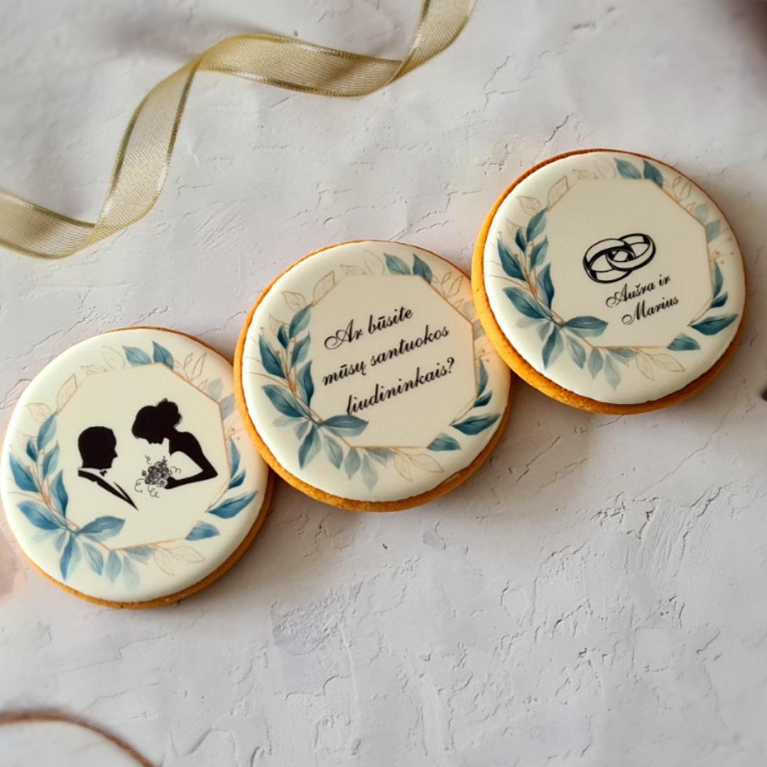 """Dekoruoti imbieriniai sausainiai """"Vestuvių pakvietimas - 2"""""""