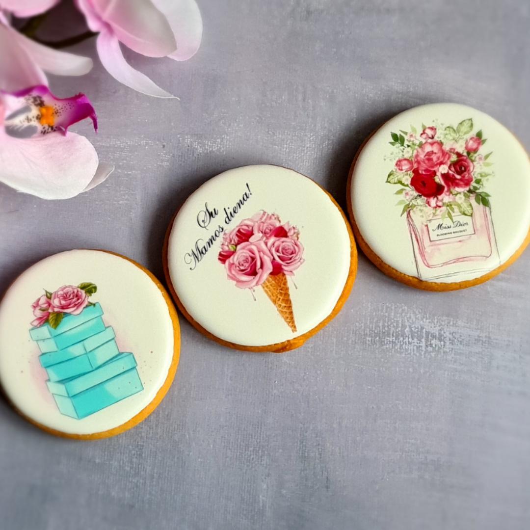 """Dekoruoti imbieriniai sausainiai """"Rožinė svaja"""" 3"""