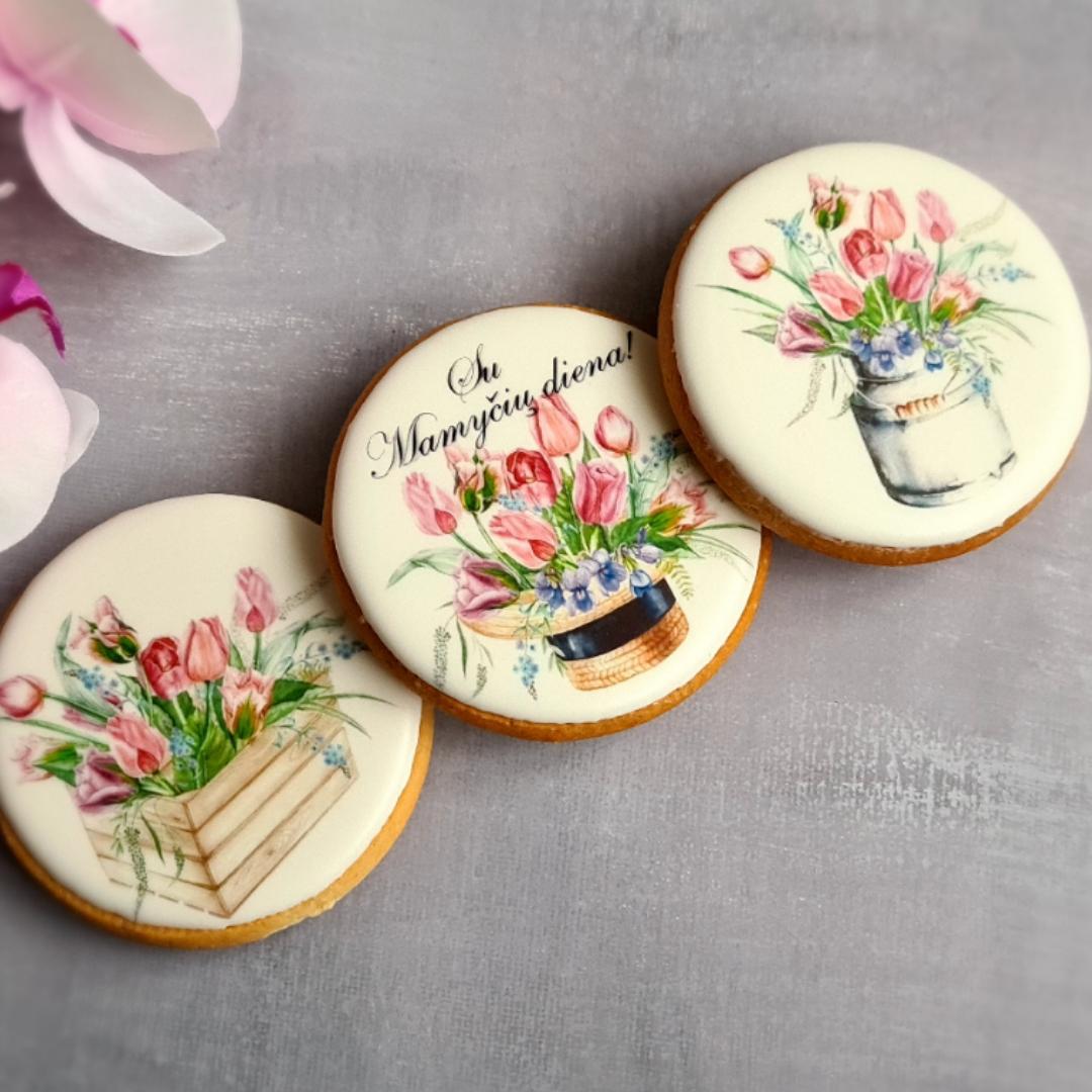 """Dekoruoti imbieriniai sausainiai """"Tulpės"""" 2"""