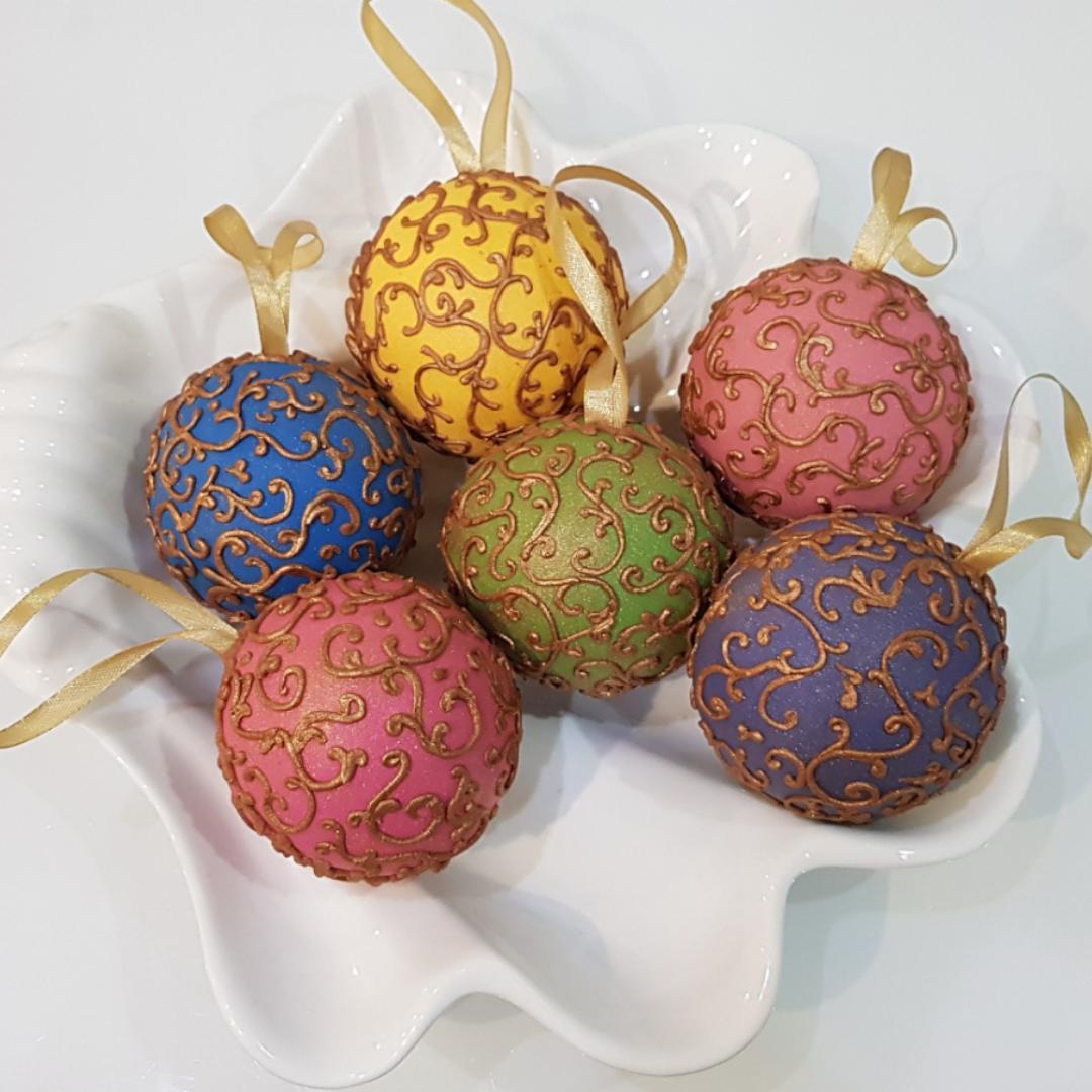 """Dekoruoti imbieriniai sausainiai 3D """"Kalėdiniai žaisliukai"""""""