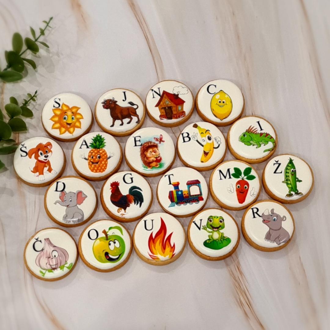 """Dekoruoti imbieriniai sausainiai """"Abėcėlė"""""""