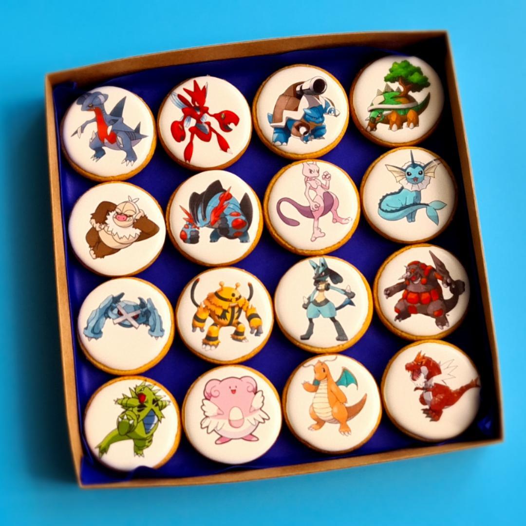 """Dekoruoti imbieriniai sausainiai """"Pokemonai"""""""