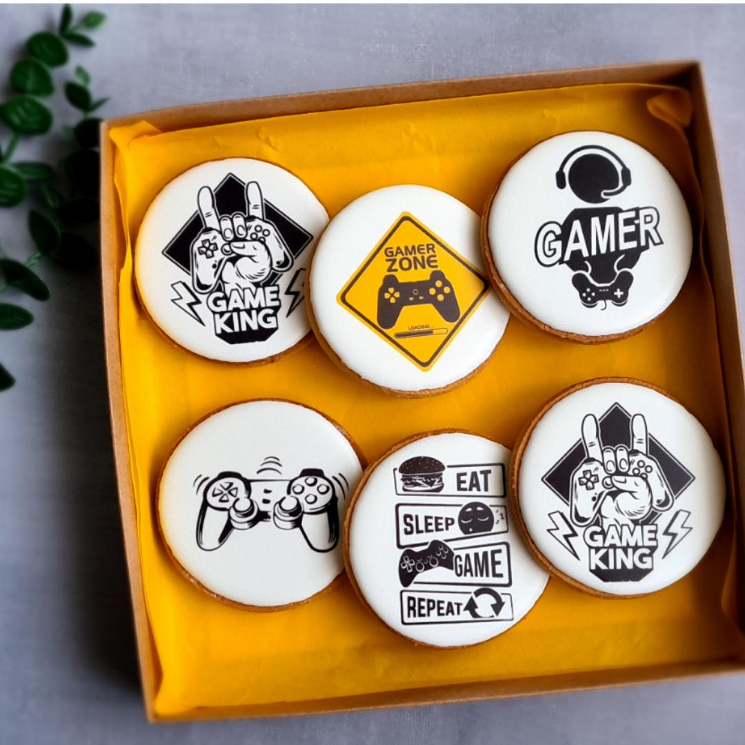 """Dekoruoti imbieriniai sausainiai """"GAMER ZONE"""" 1"""