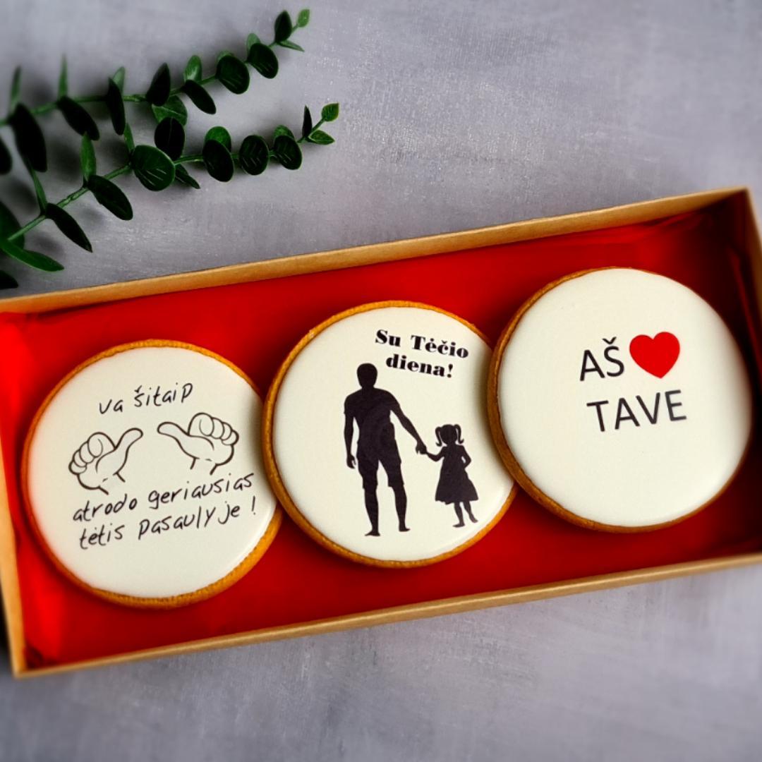 """Dekoruoti imbieriniai sausainiai """"Aš myliu Tave"""""""
