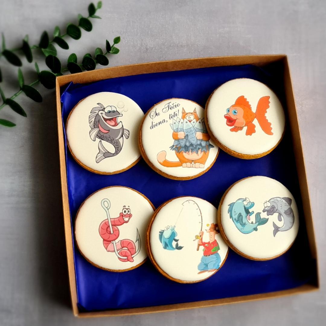 """Dekoruoti imbieriniai sausainiai """"Tėtis - laikas sau"""""""