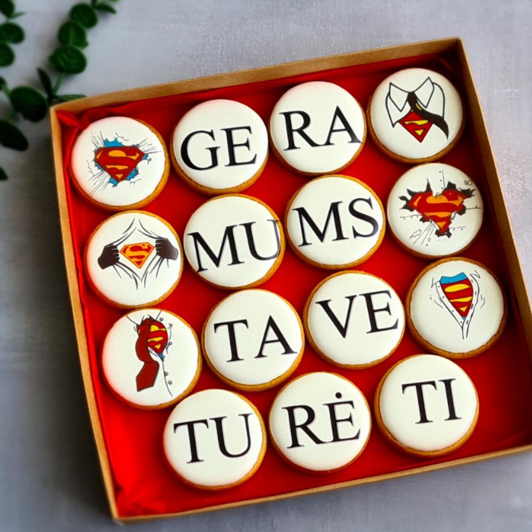 """Dekoruoti imbieriniai sausainiai """"Gera mums tave turėti"""" 1"""