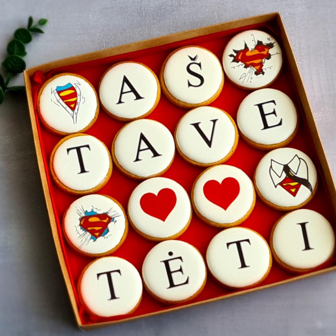 """Dekoruoti imbieriniai sausainiai """"Aš tave myliu Tėti"""" 2"""