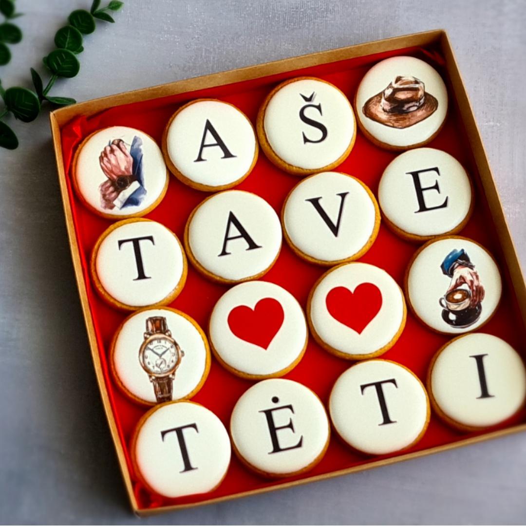 """Dekoruoti imbieriniai sausainiai """"Aš tave myliu Tėti"""" 3"""