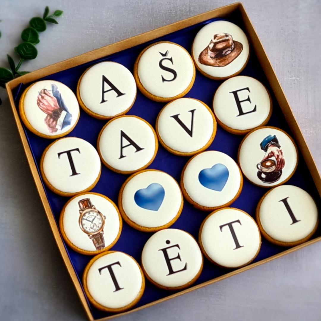 """Dekoruoti imbieriniai sausainiai """"Aš tave myliu Tėti"""" 4"""