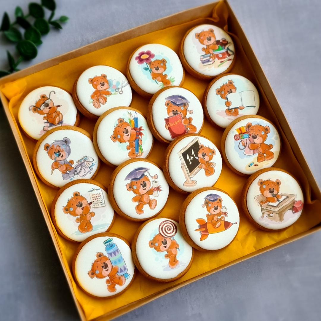 """Dekoruoti imbieriniai sausainiai """"Mokykla ir aš"""""""